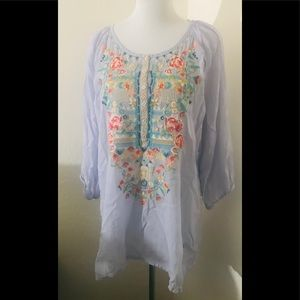 Johnny Was tunic shirt size 1x